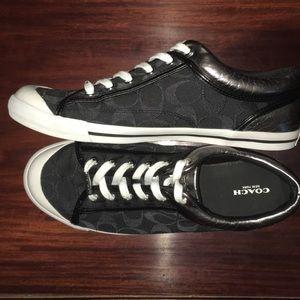 Coach Francesca Canvas Logo Black Sneakers 11